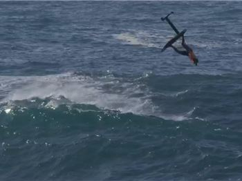 JOB and Lenny go foiling at HUGE Pipeline! - Stand Up Paddle News